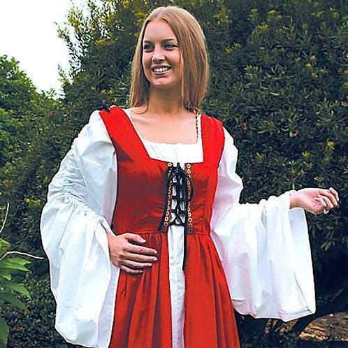 Renaissance Long Bodice Peasant Ensemble - Rental
