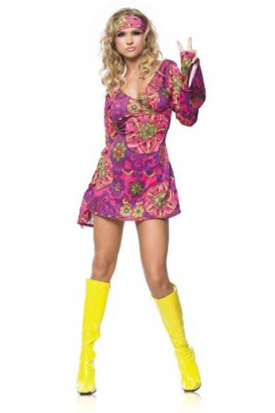 Go Go Purple Dress with headband- Rental
