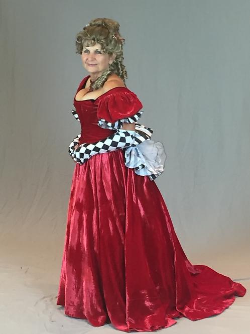 Victorian Crushed Velvet Ballgown w Train - Rental