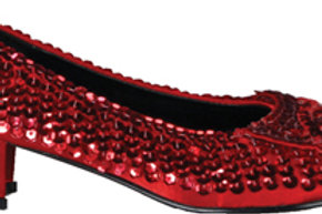 Red Sequin Dorothy Shoes - Low  heel - Rental