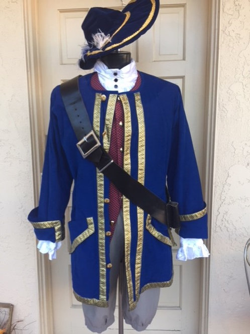 Pirate - Blue 1776 with gold trim. - Rental