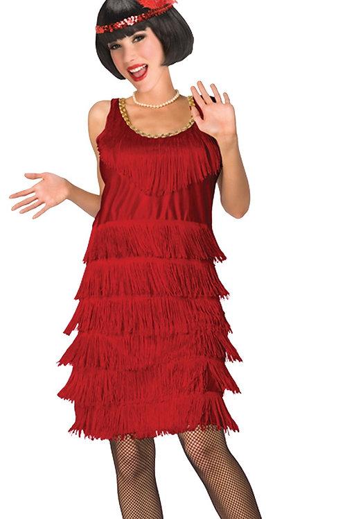 1920s Fringe Layered Flapper Dress