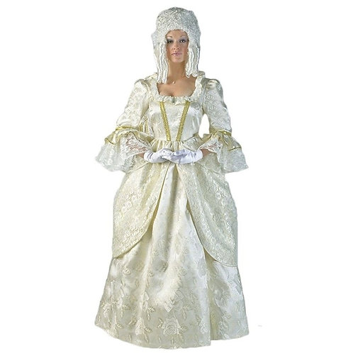 Lady Mozart - 1776- Cream & Gold Brocade Queen - Rental