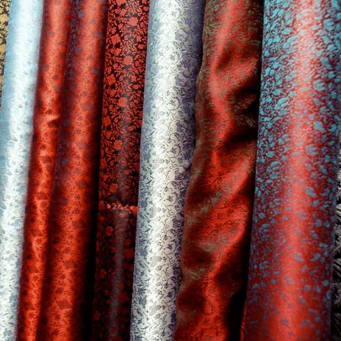 Handwoven silk fabrics in Souk El Harir