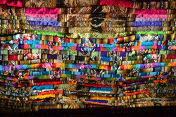 Detail of colourful fabric - Chile