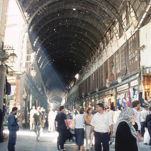 View of Souk Al Hammadiyya Damascus