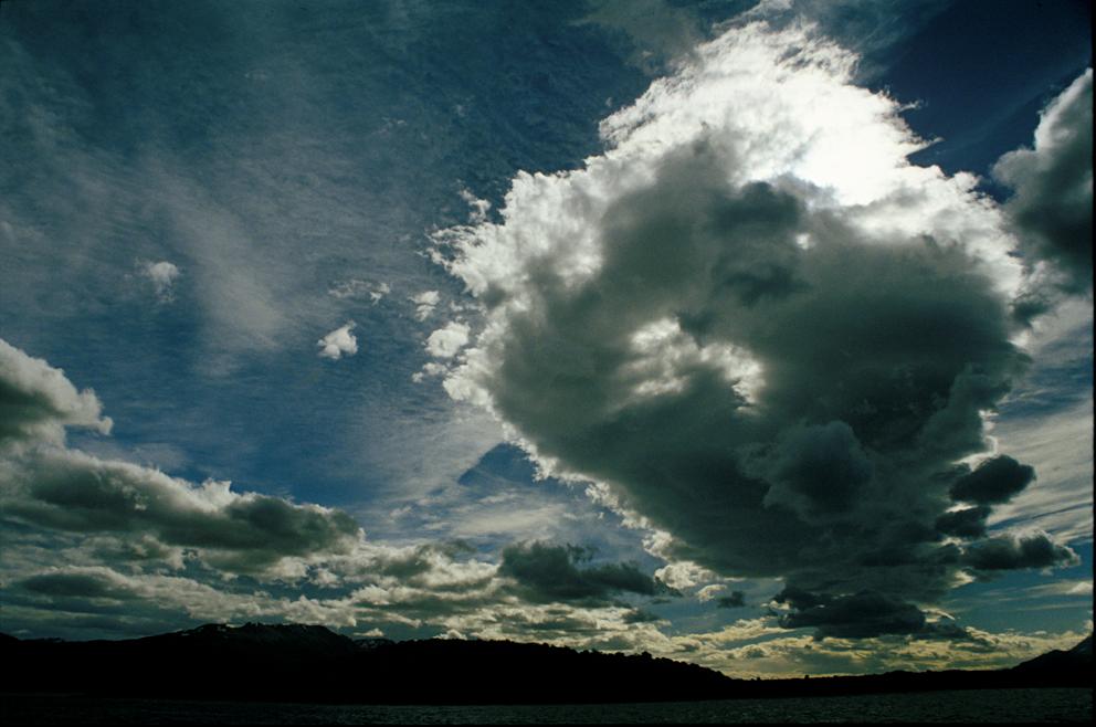 Dramatic sky in Ushuaia, Tierra del Fuego, Patagonia Argentina