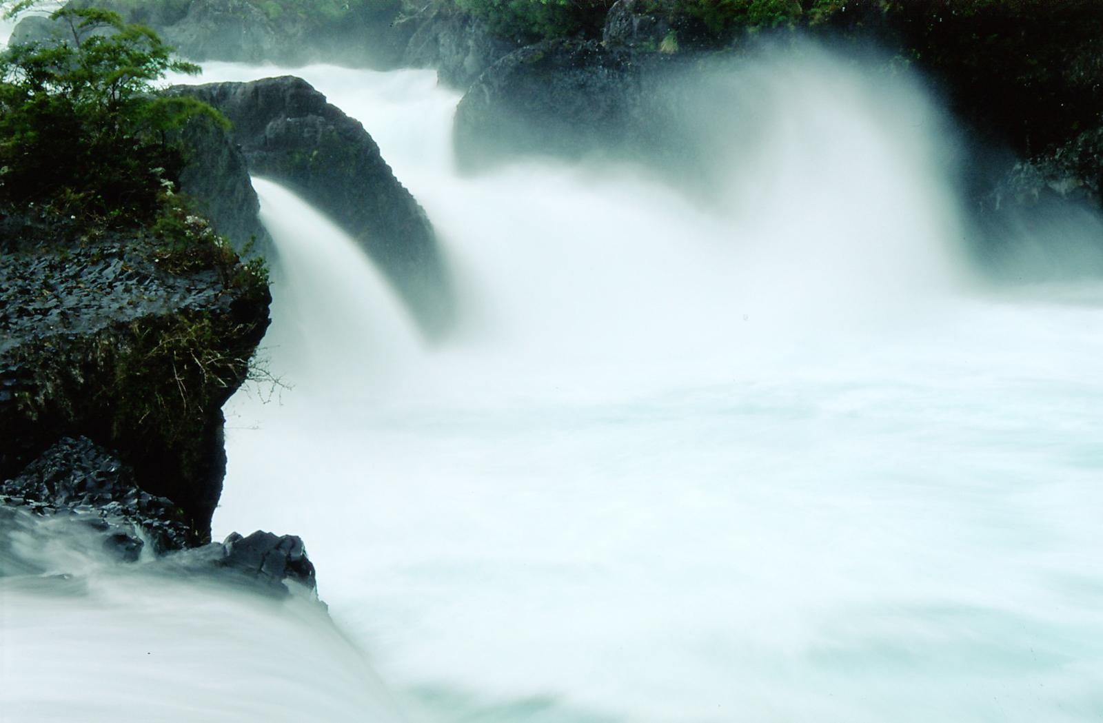 Petrohue Falls at Petrohue National Park Chile
