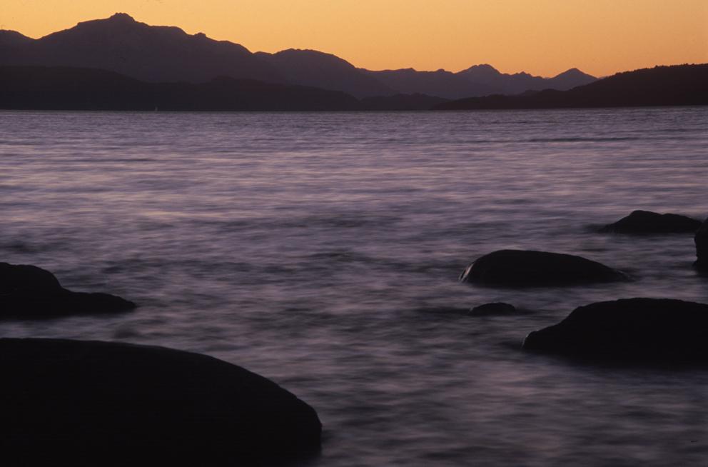 Nahuel Huapi lake at dusk - Argentinian Patagonia