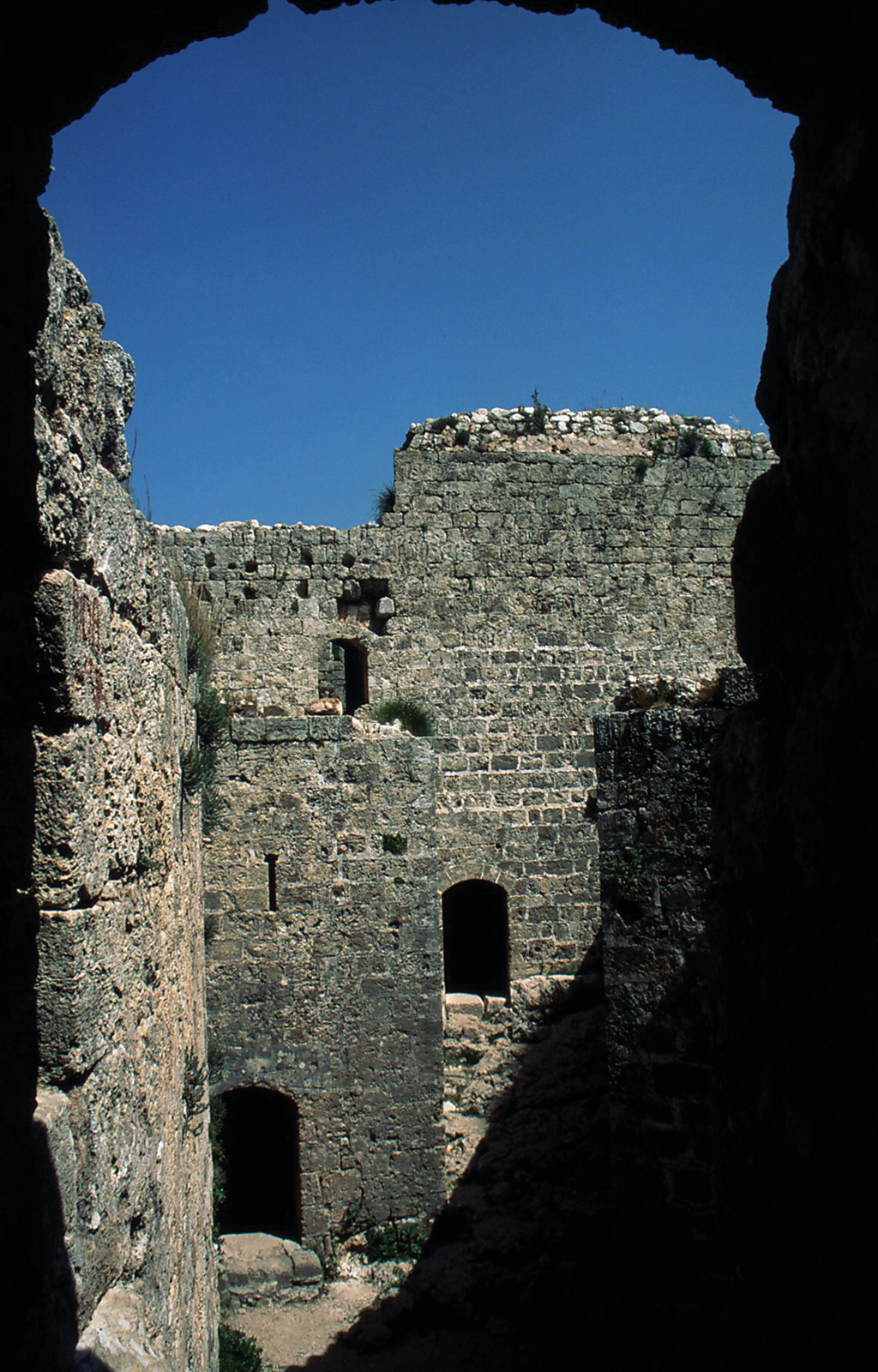 Detail inside Old Fortress north of Beirut, Lebanon
