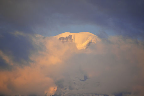 Mont Blanc resting in clouds