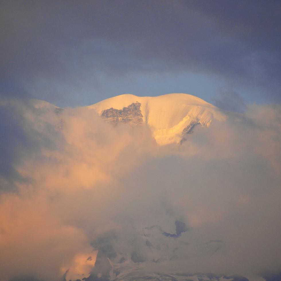 Le Mont Blanc, vu du Lac Vert, Passy
