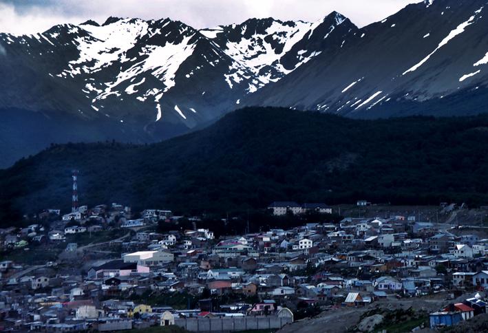 View of Ushuaia, Tierra del Fuego, Patagonia, Argentina