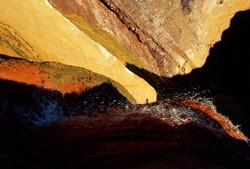Detalle de las aguas termales en Puente del Inca Provincia de Mendoza Argentina