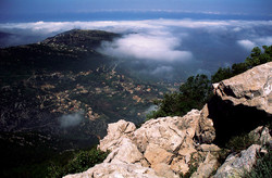 View from the top of Jabal Moussa (Moses' Mountain), North Lebanon