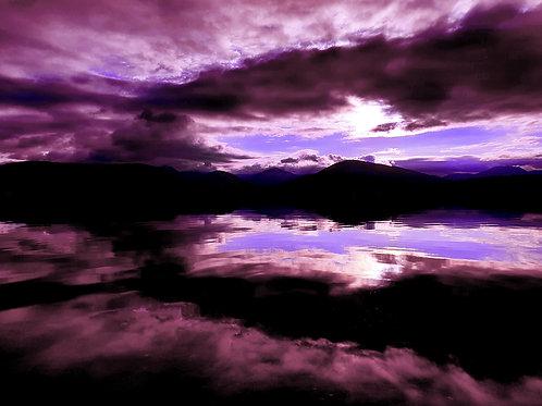 Loch Lomond in purple hues
