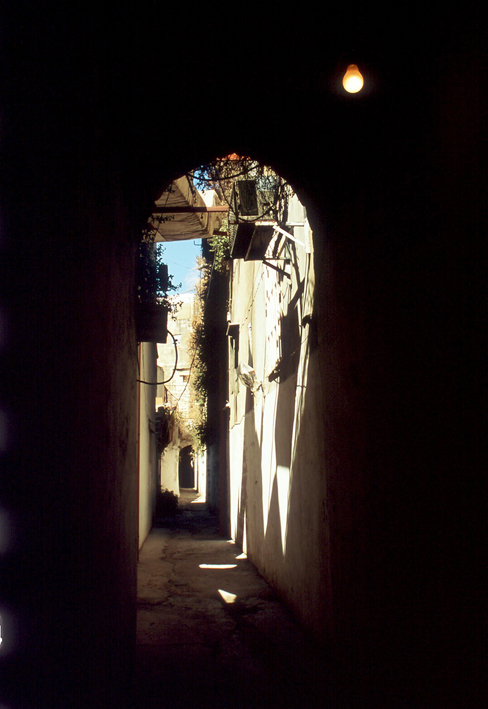A little street off the souk in Tripoli town centre North Lebanon