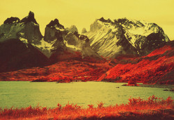 Infra red Torres del Paine National Park, Patagonia, Chile
