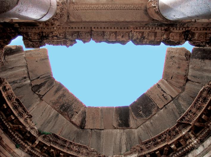 Circular exedra in the Temple of Bacchus - Baalbeck - Lebanon