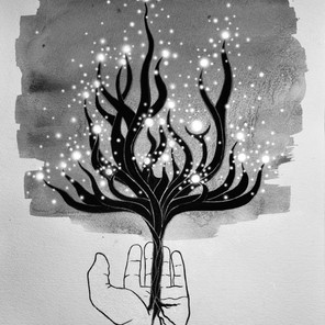 """The Hope Tree (My Life Hope) for Sandra Donald's poetry book """"It's Your Time"""""""
