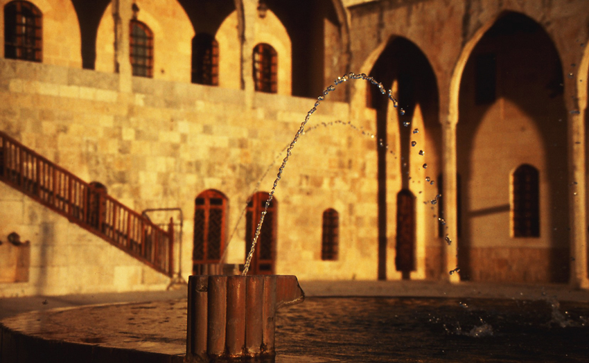 Fountain at Beit El Deen Palace, Mount Lebanon, Lebanon