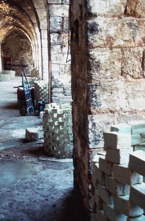Towers of drying handmade soaps in Souk El Saboun Tripoli North Lebanon