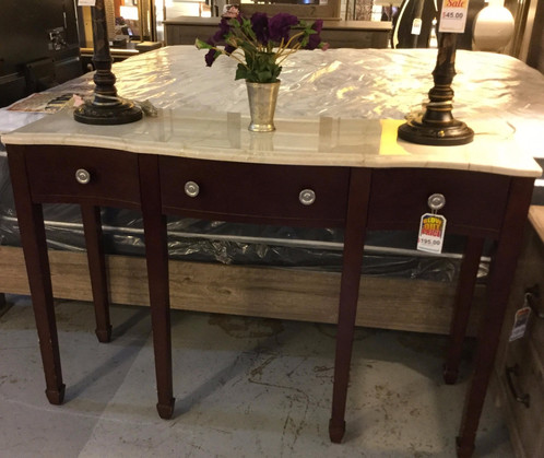 Hc Marble Top Entry Table