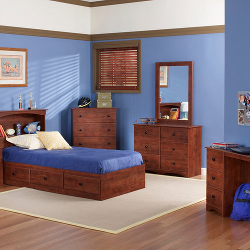 perdue 11000 cinnamon fruitwood youth bedroom - Fruitwood Bedroom Furniture