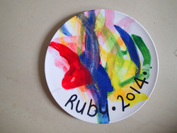 Watercolour on a plate