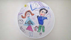 Draw on a plate
