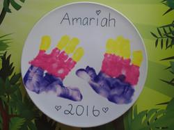 Handprint art plate
