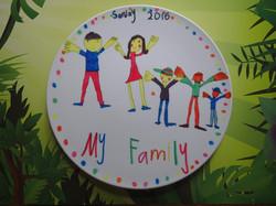 My family plate art