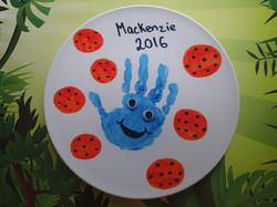 Cookie monster handprint art