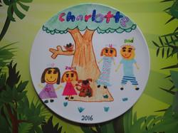 Family tree plate art lasts forever
