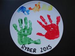Kindy handprint plate