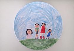 Children's art on a plate