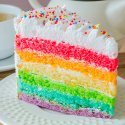 Colorful art cake