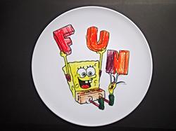 Sponge Bob colouring book plate