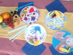 Art party plates
