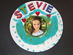 Finished art plate with a photo
