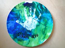 Handprint on a plate
