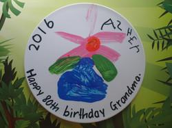 Grandparent's love kids art