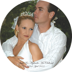Wedding photo plate