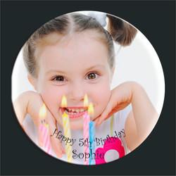 Birthday photo plate