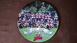 Sporting team photo plate