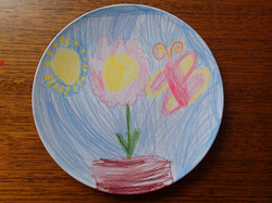 Drawing on a plate