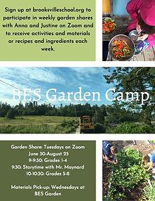 BES-Garden-Camp poster