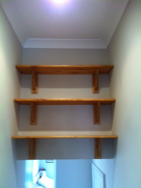 shelves fitted
