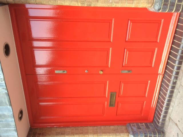 Main door painted