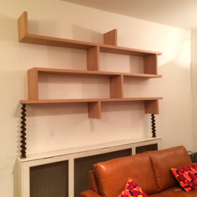 shelves hanged